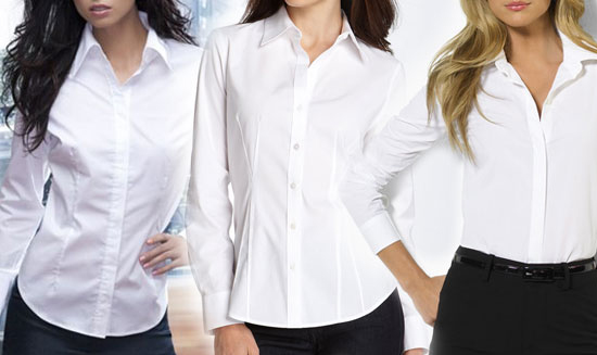 How many white blouses does one woman need?